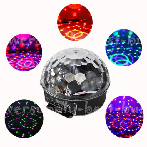 LED Star Ball . 100,000 hours LED lights . 34 razor sharp beams . Built in lighting shows . Mirror ball effect . Music reactive lights . 30 operation modes