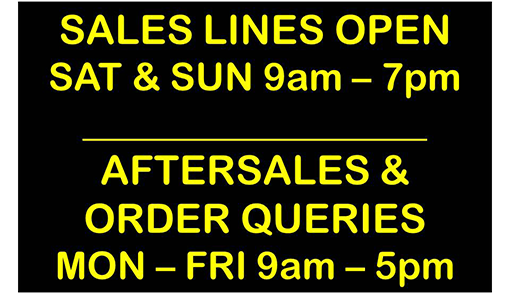 Weekend sales line