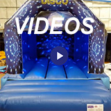 Bouncy castle sales video page see live samples of our products on display